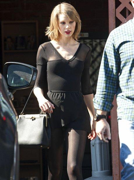 Taylor Swift wearing all black in LA