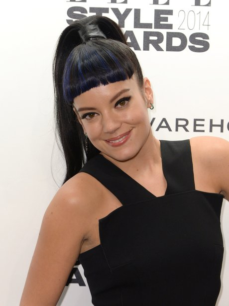 Lily Allen with an award