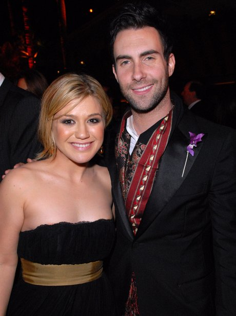 Adam Levine and Kelly Clarkson