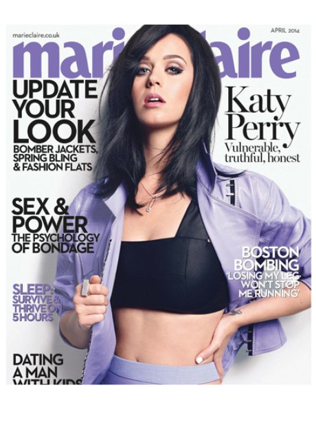 Katy Perry on the cover of Marie Claire