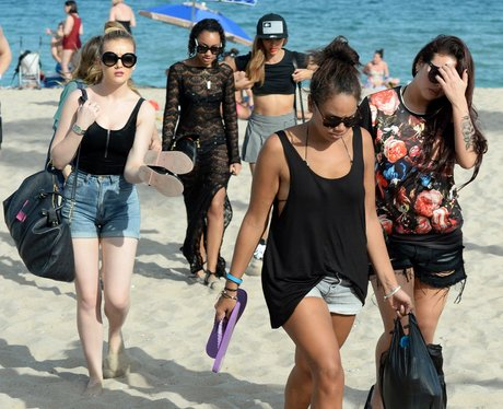 Little Mix on the beach