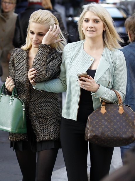 Pixie Lott and her sister in Milan
