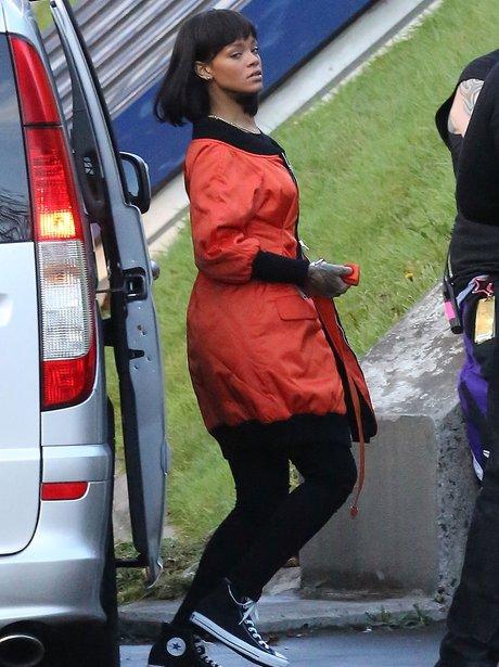 Rihanna arrives in Paris