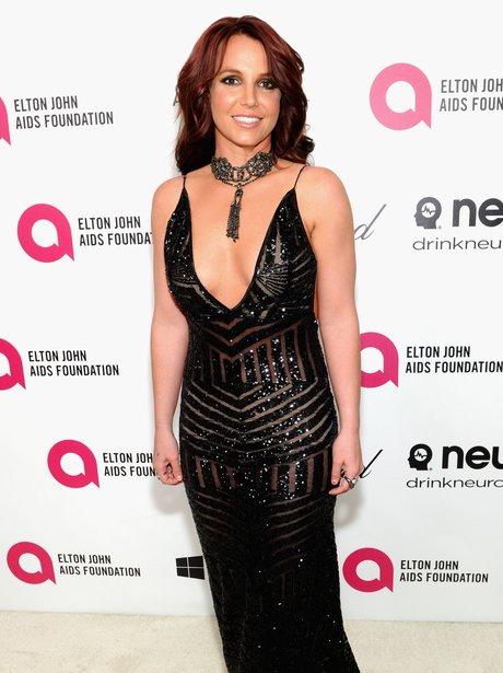 Britney Spears Elton John Oscars Party 2014