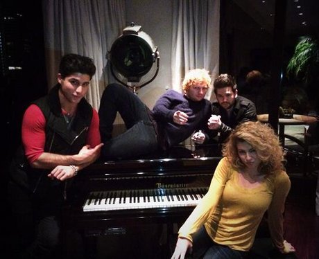 Ed Sheeran on a piano