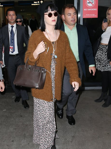 Katy Perry arrives at the airport