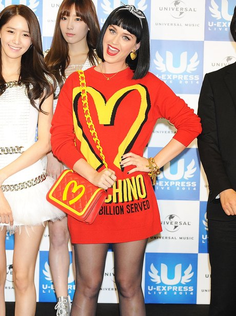 Katy Perry Mochino Outfit