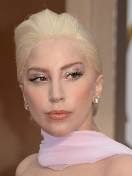Lady Gaga at the Oscars 2014 red carpet