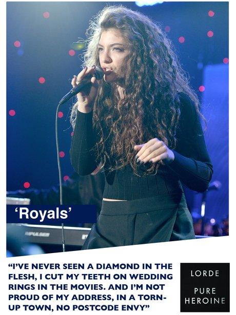 Lorde's 'Royals' song lyrics