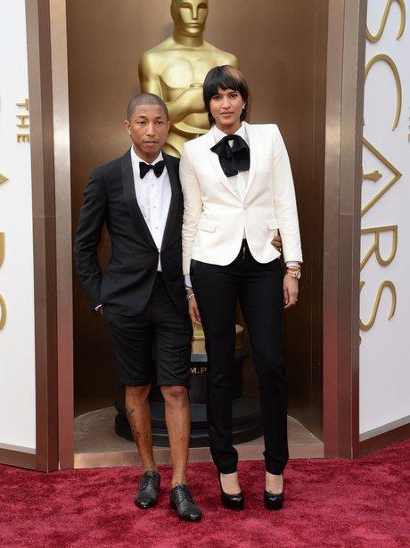 Pharrell Williams and Helen Lasichanh Oscars 2014