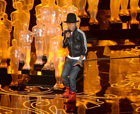 Pharrell Williams performs at the Oscars 2014