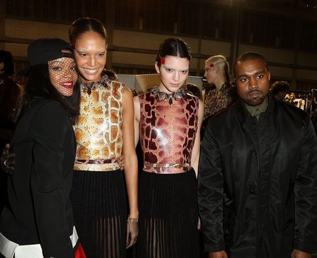 Rihanna, Kendall Jenner and Kanye West