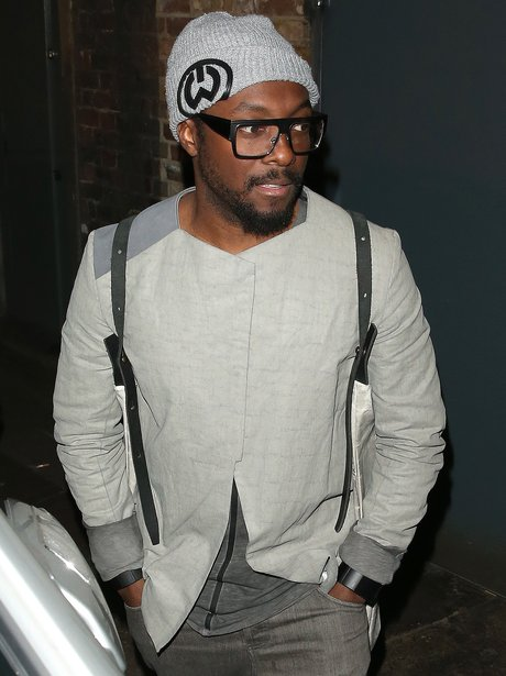 Will.i.am wearing a beanie