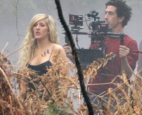 Ellie Goulding filming her new music video