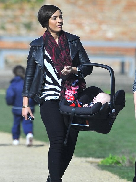 Frankie Sandford and baby Parker