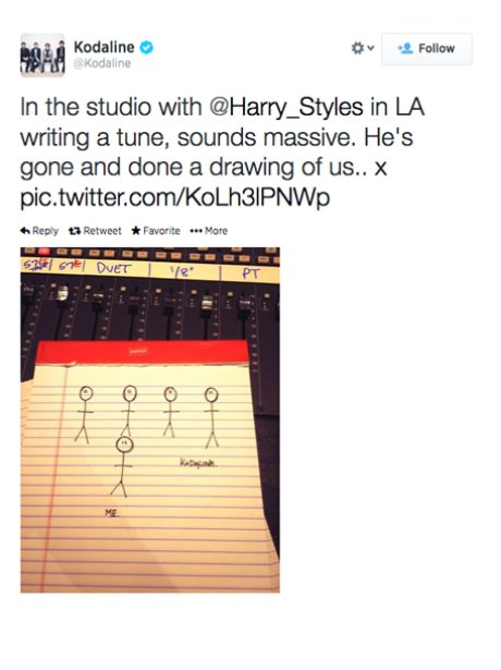 Kodaline Tweet About Harry Styles