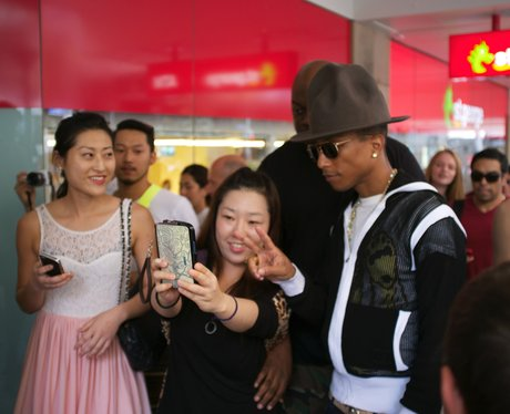 Pharell shopping in Australia