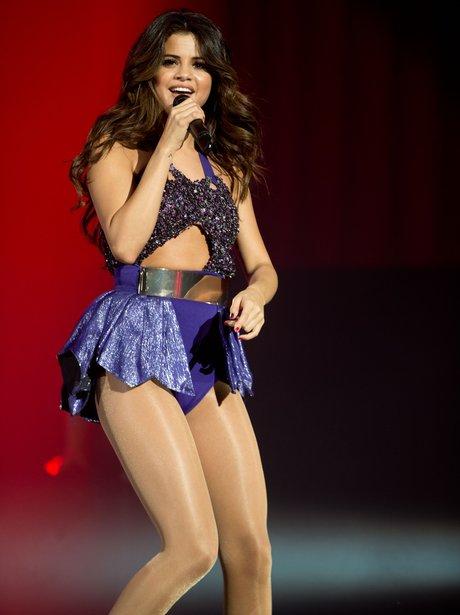 Selena Gomez performs on stage