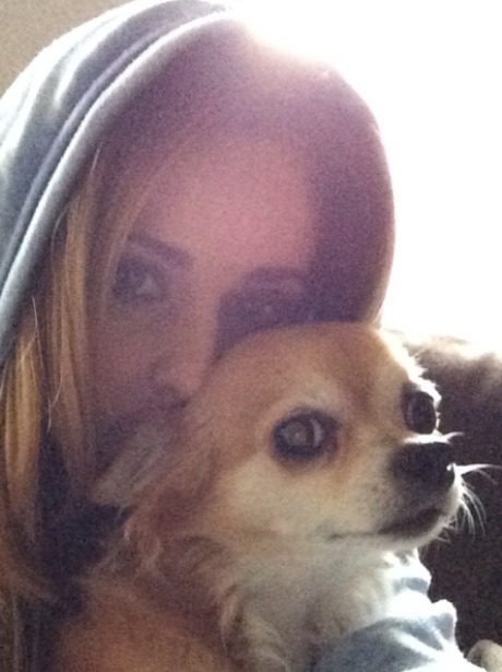 Cheryl Cole and dog