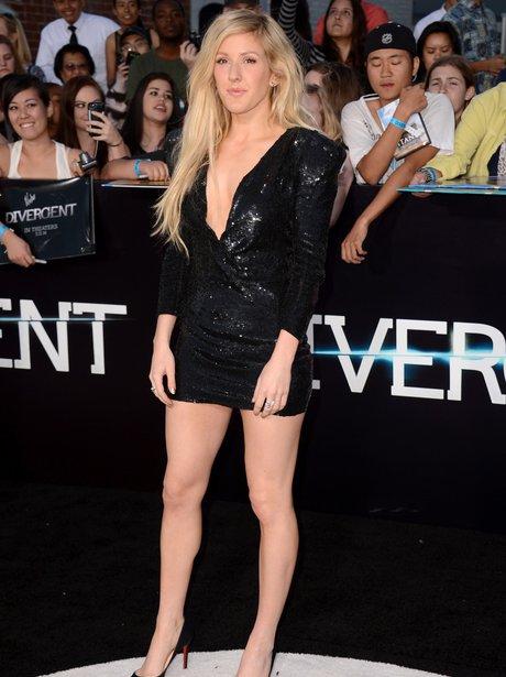 Ellie Goulding Plunging Dress