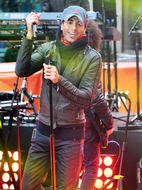 Enrique Iglesias performs on NBC's Todays Show