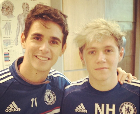 Niall Horan and Oscar Emboaba
