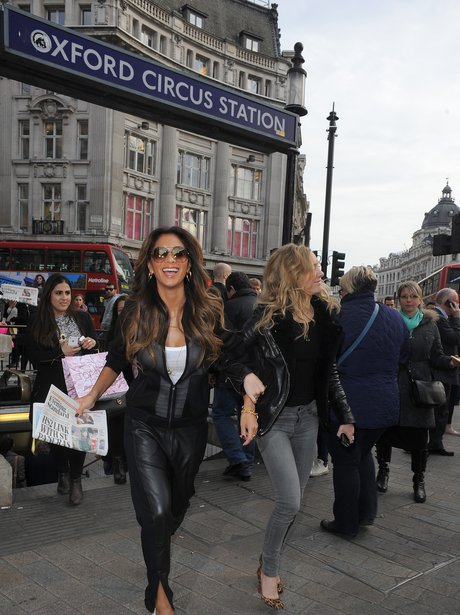 Nicole Scherzinger at Oxford Circus tube
