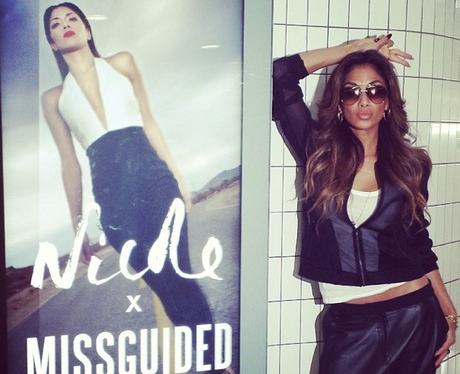 Nicole Scherzinger on the tube