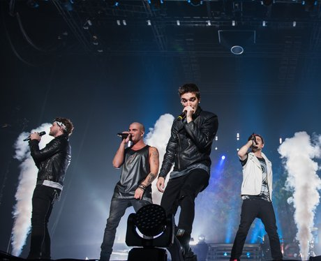 The Wanted performing live at the Word of Mouth Fa