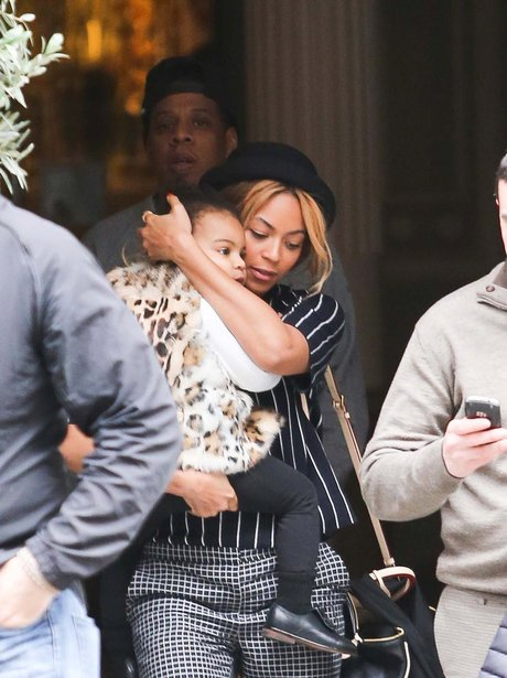 Beyonce, Blu Ivy and Jay Z