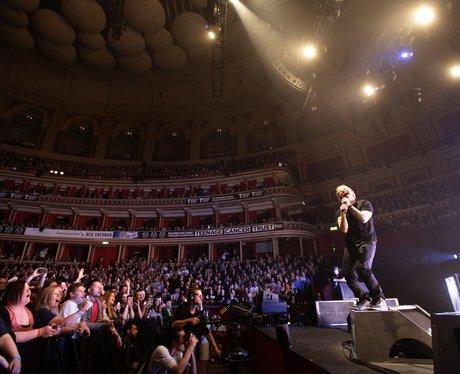 Ed Sheeran performing at the Albert Hall