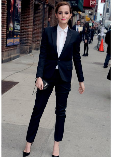 Emma Watson in a tuxedo