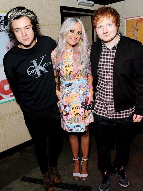 Harry Styles, Ed Sheeran and Lou Teasdale