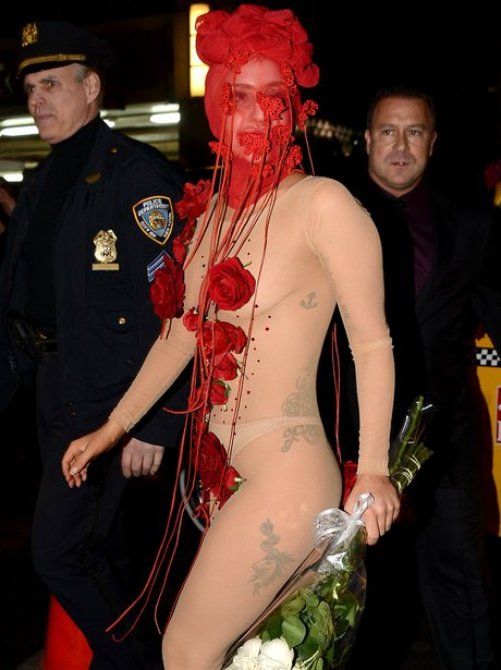 Lady Gaga arrives at the Roseland Ballroom in New York