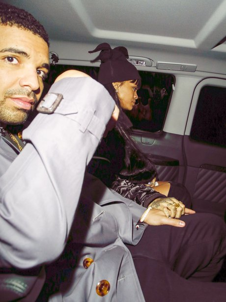 Rihanna and Drake in a taxi together