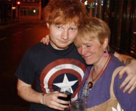 Ed Sheeran and Mum