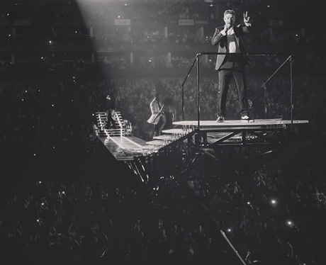 Justin Timberlake performs on his 2014 UK tour