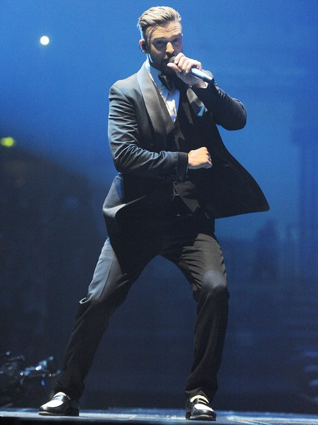 Justin Timberlake performs on his 2014 UK tour