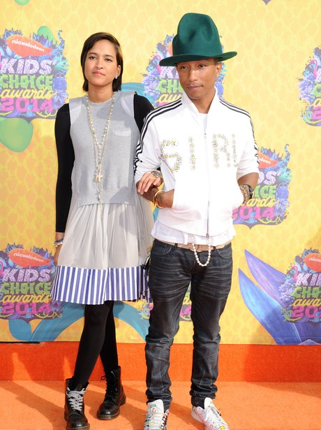 Pharrell Williams and Helen Lasichanh at the KCAs 2014