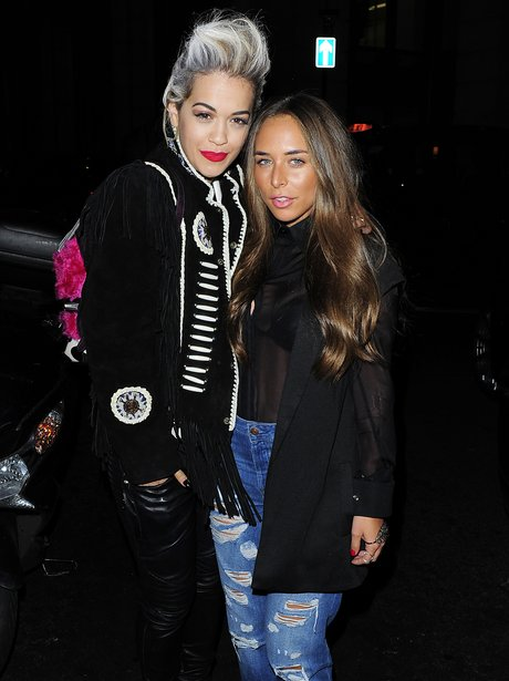 Rita Ora and Chloe Green out for dinner