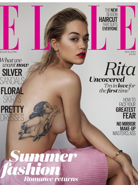 Rita Ora poses on the cover of ELLE Magazine 2014