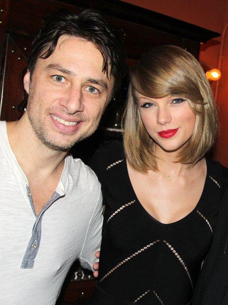 Zach Braff and Taylor Swift on Broadway