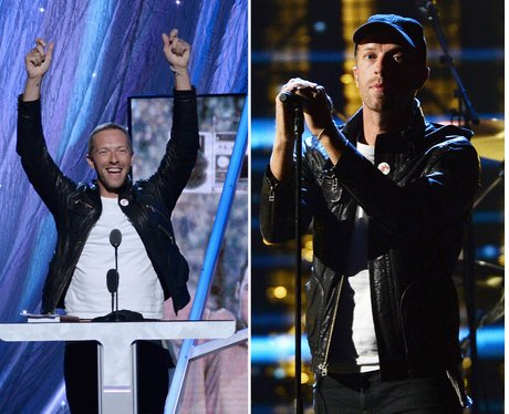 Chris Martin Rock and Roll Hall Of Fame 2014