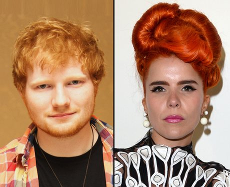 Ed Sheeran and Paloma Faith