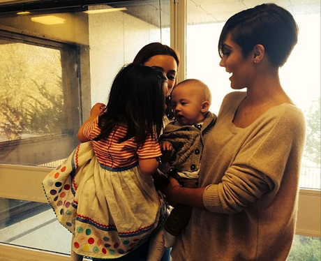 Frankie Sandford and Una With Babies