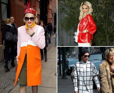 Rita Ora Fashion: Coats