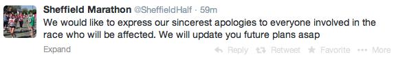 Sheffield half cancelled 1