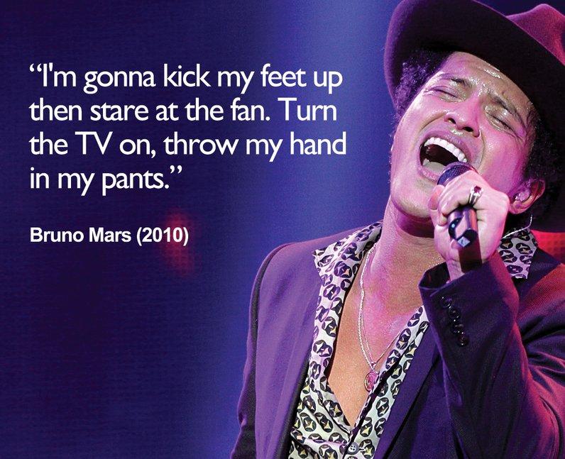 Bruno Mars 'Lazy' Lyrics
