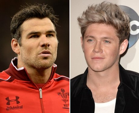 Mike Phillips and Niall Horan