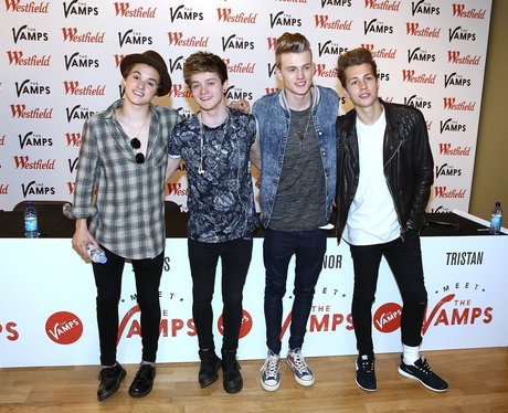 The Vamps pose at their album launch party
